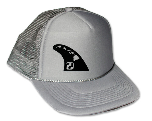 47d558207c62af Fin - Gray Trucker Hat (black logo shown, neon yellow also available)