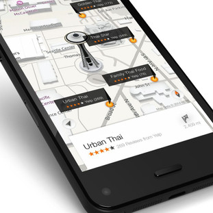 Amazon Kindle Fire Phone Map App Low Poly Buildings