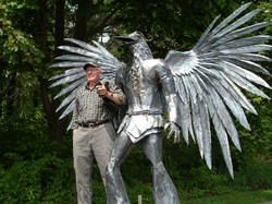 Raven Man Sculpture with Frank060
