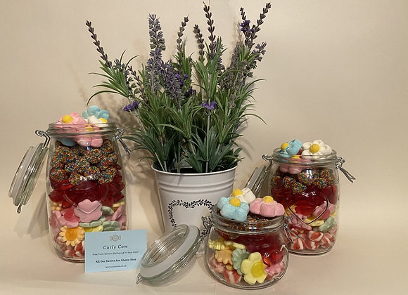 Mother's Day Mix in Heart Glass Jar from