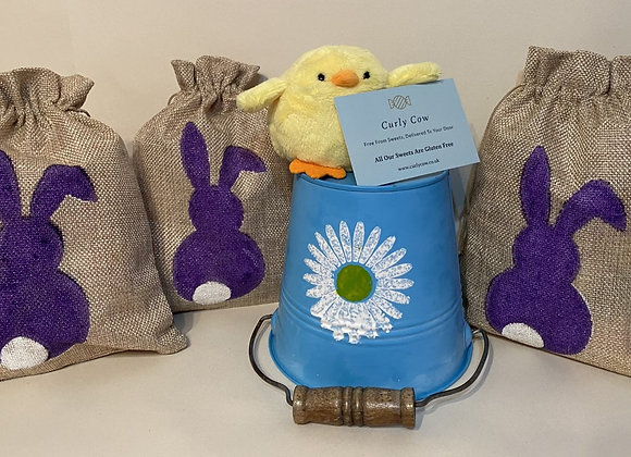 Easter Marshmallow Hessian Gift Bag