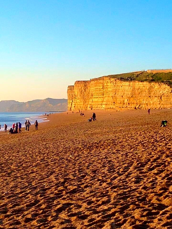 The cliffs of West Bay