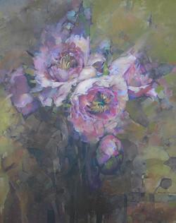 Pale poppy flowers