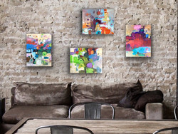 Raw color, four paintings