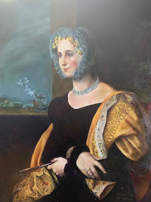 Portrait of Ekaterina Abdulina by Orest Kiprensky, original copy