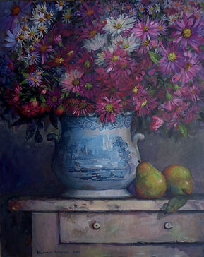Fall Still Life with Chinese vase