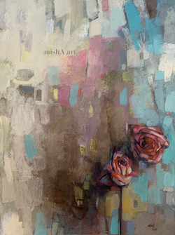 Abstract with pink rose