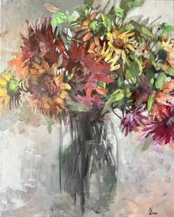 Etude with sunflowers