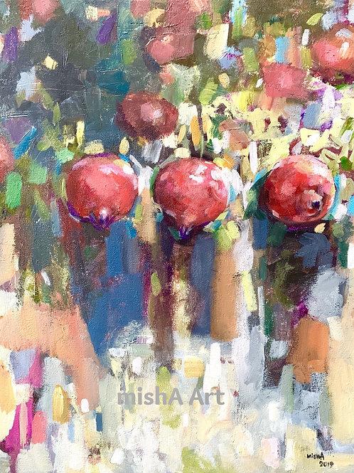 Pomegranates abstract
