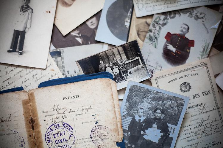 Photos et documents familiaux pour la généalogie