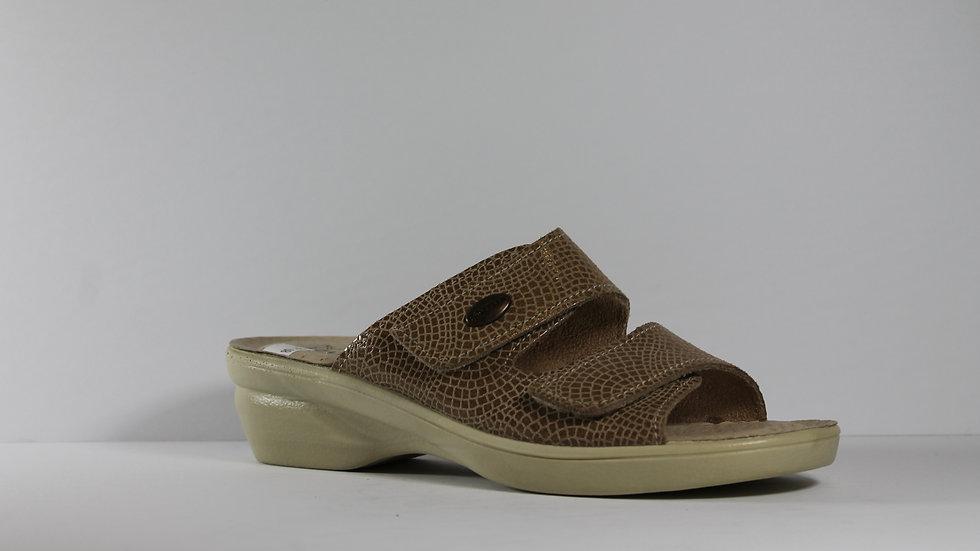 Polyflex Italian Leather Croco Sandals