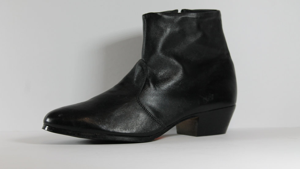 Men's Leather Belmoda Cuban Heeled Boot 8020