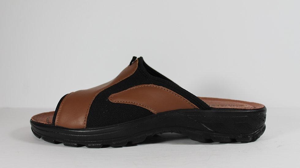 Polyflex Men's Leather Stretch Sandal