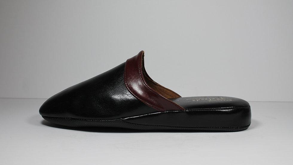 Creazoni Falcade Italian Partial Leather Men's Slipper