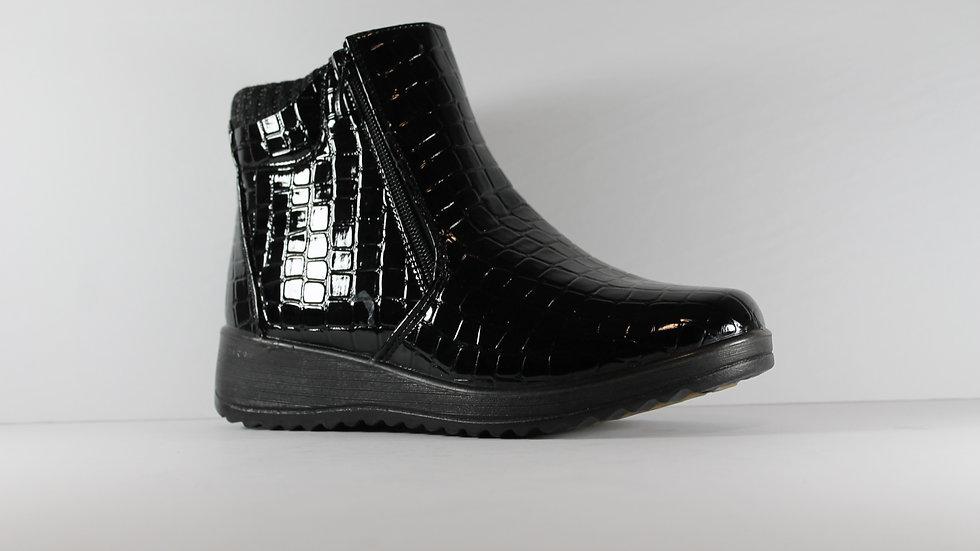 Vangelo Ladies' Patent Croco Boot