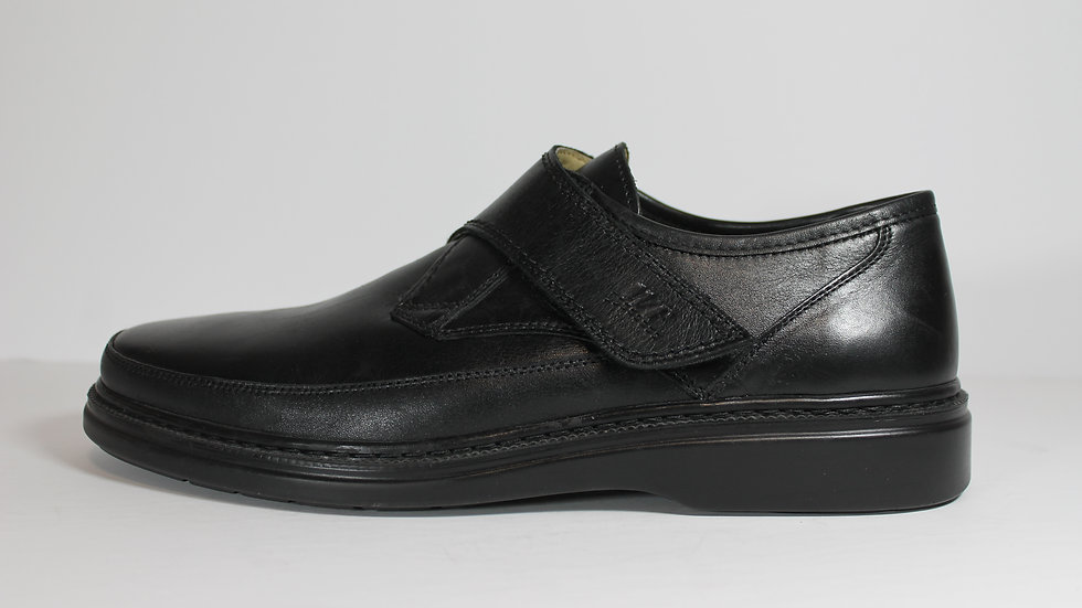 Walker Flex Leather Men's Smooth Velcro Shoes