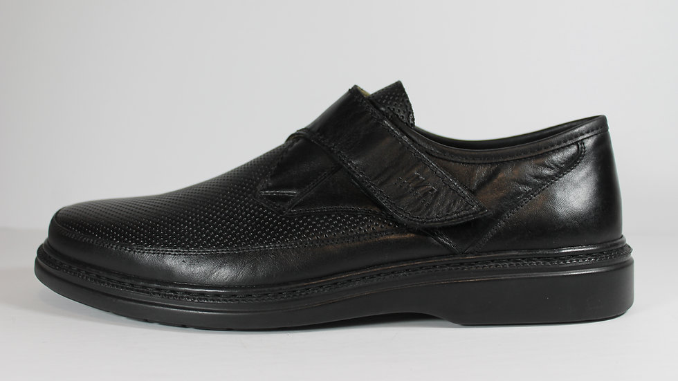 Walker Flex Leather Men's Velcro Shoes