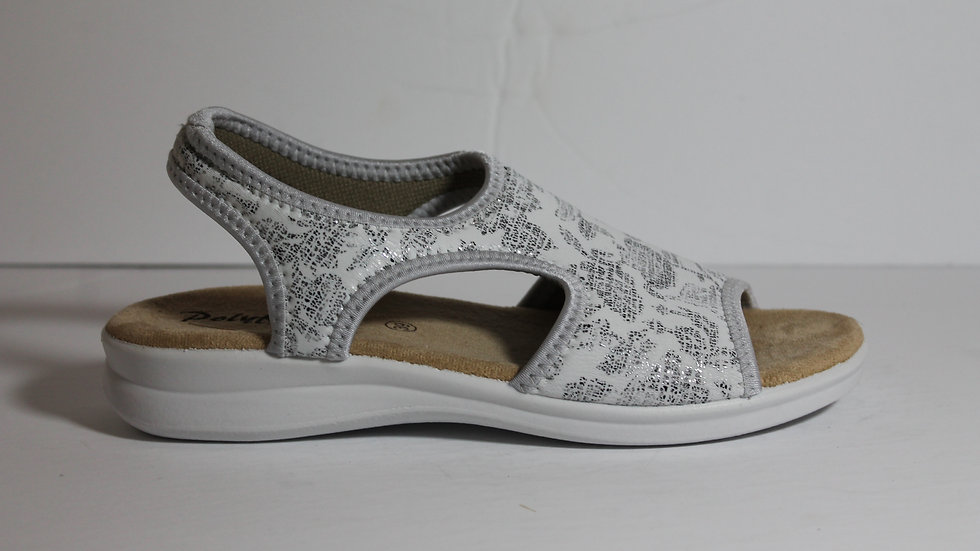 Polyflex Stretch Sandal with Silver Accents
