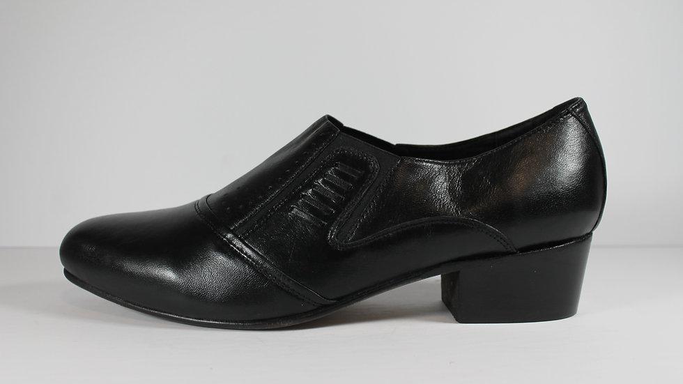 Italian Comfort Men's Leather Cuban Heel Shoe