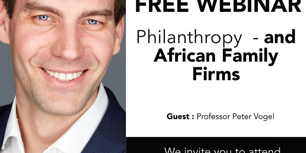 Philanthropy with Professor Peter Vogel