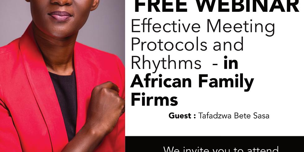 Effective Meeting Protocols and Rhythms with Tafadzwa Bete Sasa