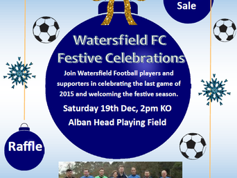 Festive football fun at the field! Saturday 19th December
