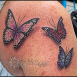 butterfly, butterflies, 3D, 3D tattoo, tattoo, sharptattoos, children, tribute,