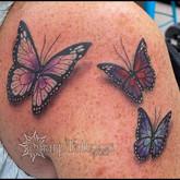 butterfly, butterflies, 3D, 3D tattoo, tattoo, sharptattoos, children, tribute,