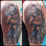 Aqualung, album cover, record, album, cover, sharptattoos, tattoo, painting, song, Jethro Tull