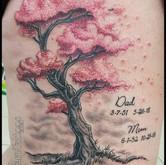 weeping, cherry, blossom, tree, sakura, memory, in memory, memorial, sharptattoos, tattoo,