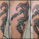 Shredder, tmnt, teenage, mutant, ninja, turtles, tattoo, sharptattoos, villain, cape, armor, fight,