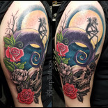 Skull and roses...