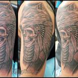 Skull with Wolf headdress