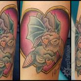 anniversary, bats, hers, tattoo, sharptattoos, bat, hug, love,