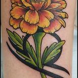 Libra, marigold, flower, zodiac sign, sharptattoos, tattoo