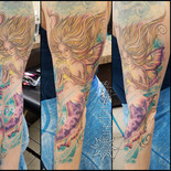 mermaid, aquatic, ocean, sea, fish, woman, siren, undersea, sharptattoos, tattoo