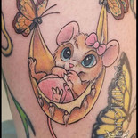baby, mouse, butterflies, new, newborn, girl, female, little, sharptattoos, tattoo, cute, toes,
