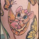 baby, mouse, butterflies, new, newborn, girl, female, little, sharptattoos, tattoo, cute, toes,