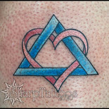 adoption, new child, heart, triangle, pyramid, forever, love, parent, tattoo, sharptattoos