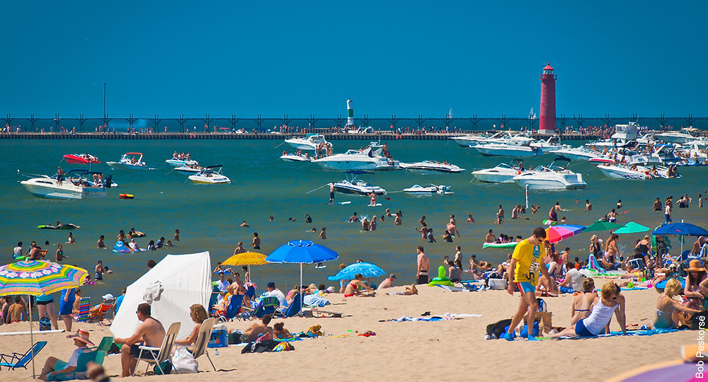 Grand Haven State Park, Local Beaches, Grand Haven Beach, Lighthouse