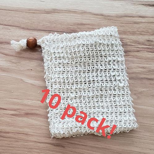 Pack of 10 Sisal Scrub bags