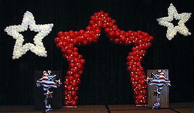 Walk Thru Light Star Balloon Sculpture