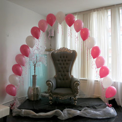 Pink chair arch