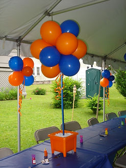 Outdoor Balloon Topiary Centerpieces