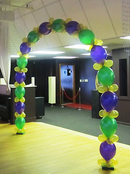 Beaded Balloon Arch