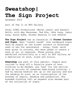 Sweatshop | The Sign Project