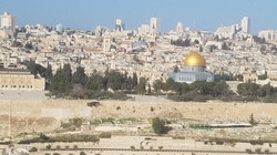 Dome of the Rock across the Kidron Valle