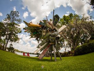 Documentation of Nancy Rubins Sculpture