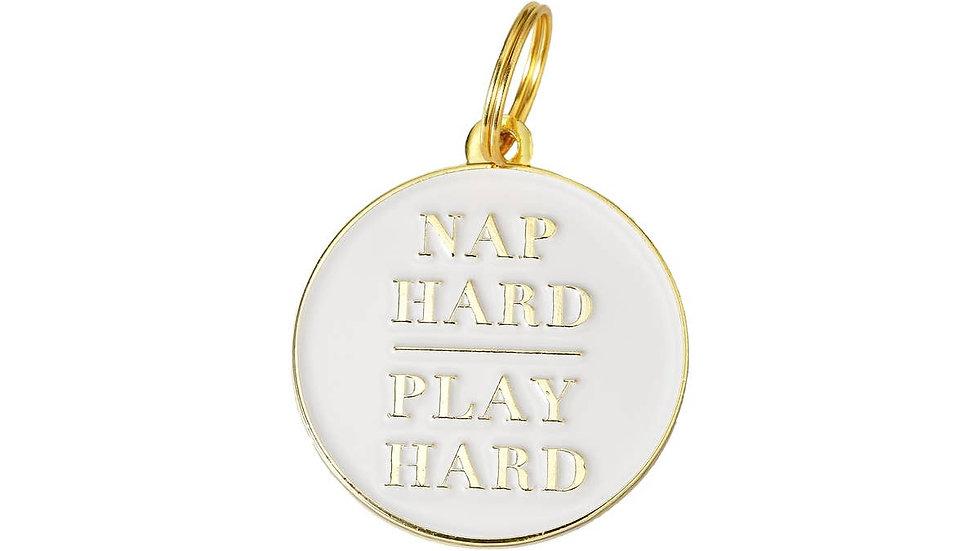 'Nap Hard Play Hard' Pet ID Tag