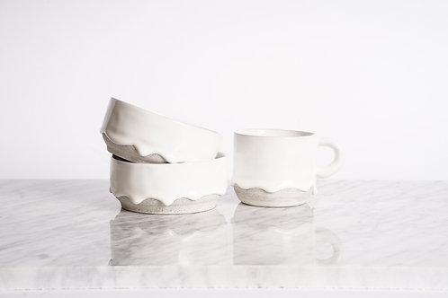 Classic White Drippy Ceramics